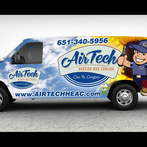 Create the next signage for Airtech heating and cooling
