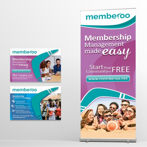 Rollup and Postcard for a membership programme
