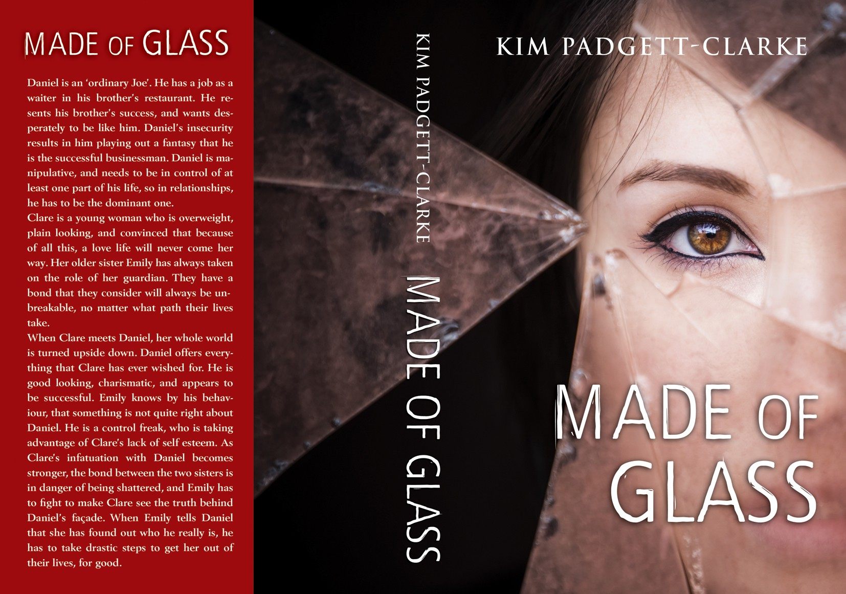 Book cover design for a novel aimed at women
