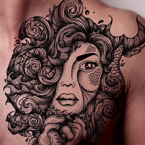 Maritime themed tattoo design
