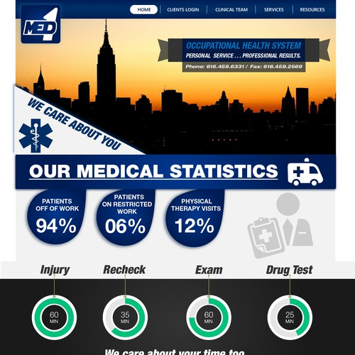 Help Med-1 with a new website design