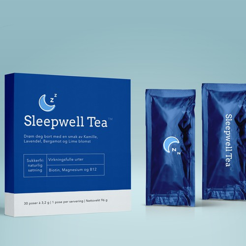 entry for Sleepwell Tea packaging design