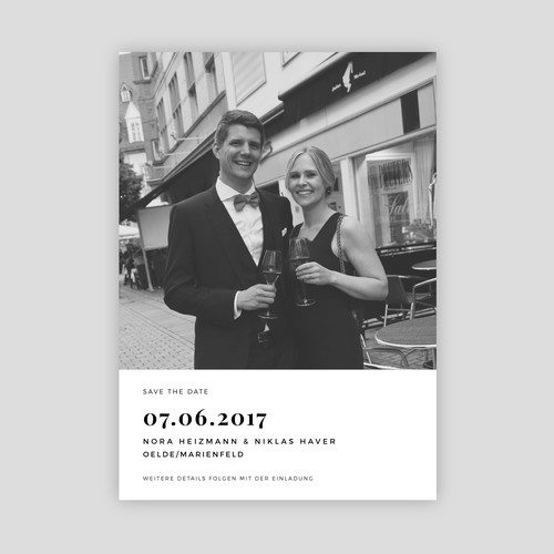 Modern and Minimalist 'Save the Date' Wedding Invitation Card Design