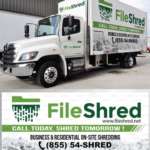 Truck sticker for FileShred