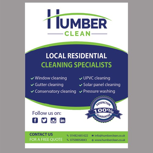 Design an eye catching flyer for my cleaning company.