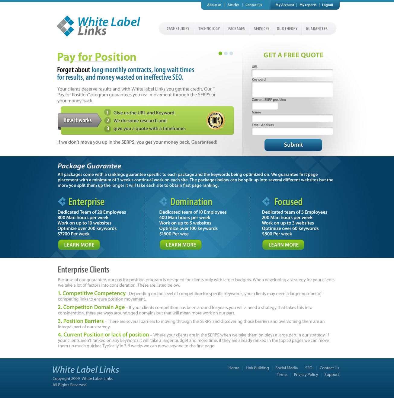 Create the next website design for White Label Links