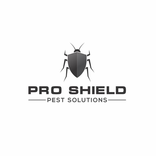 Pest solution logo concept