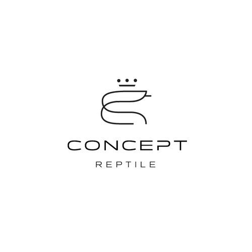 Minimal line-drawn mark for a python care company