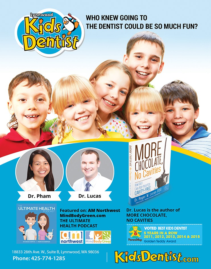 Full page print advertisement for KidsDentist.com