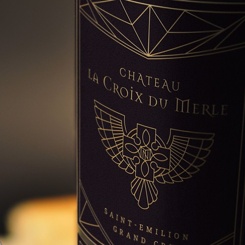 Wine label Saint-Emilion Grand cru