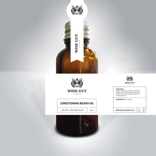 Beard Oil Label Design - Exciting new London male grooming brand