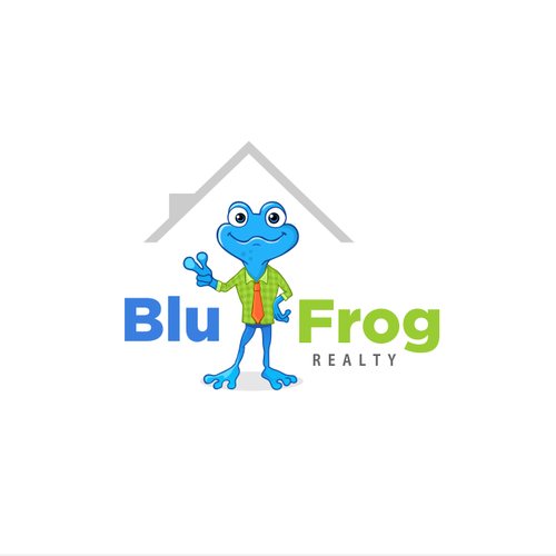 BluFrog logo character