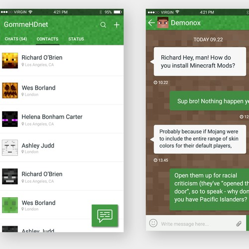 Minecraft Chat App