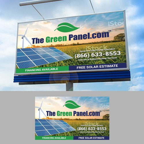 Realistic, Modern Billboard for Solar Energy Company