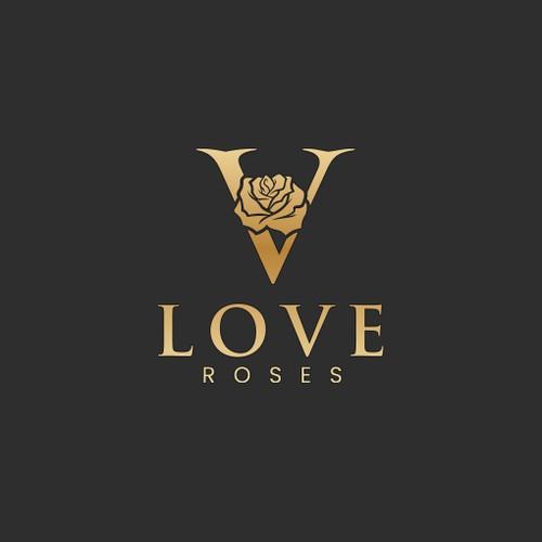 Logo for VLove Roses