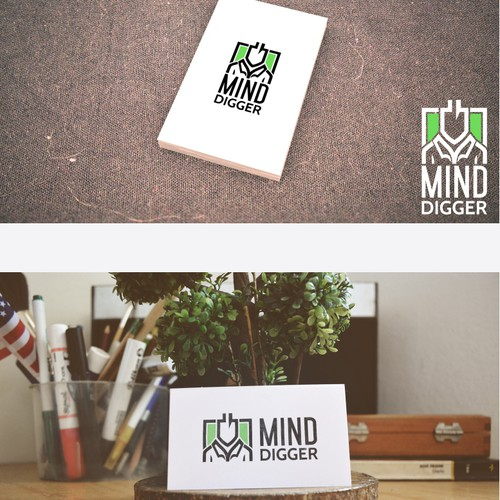 Create image to communicate mind digging in a clean, obvious and positive way