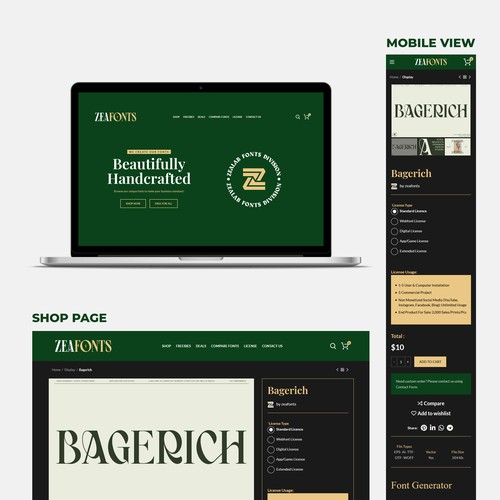 Website Project for Font Shop
