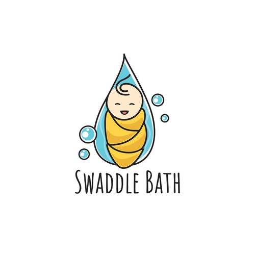 logo for swaddle bath