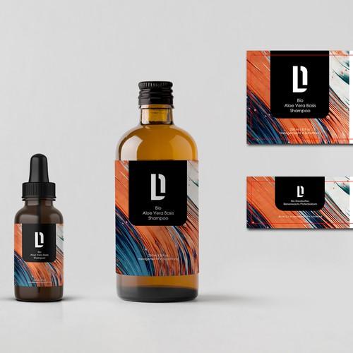 Shampo Bottle Label dESIGN
