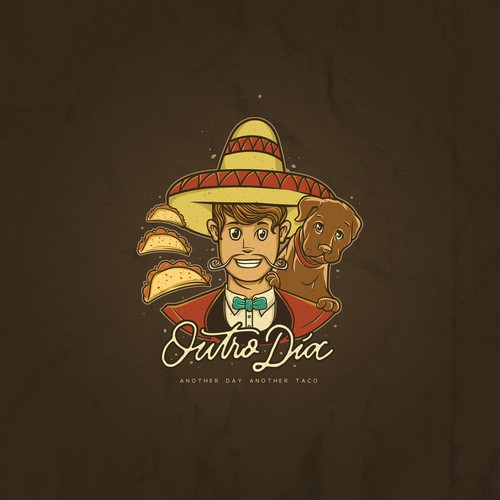 Classy fun logo desain entry for taco shop
