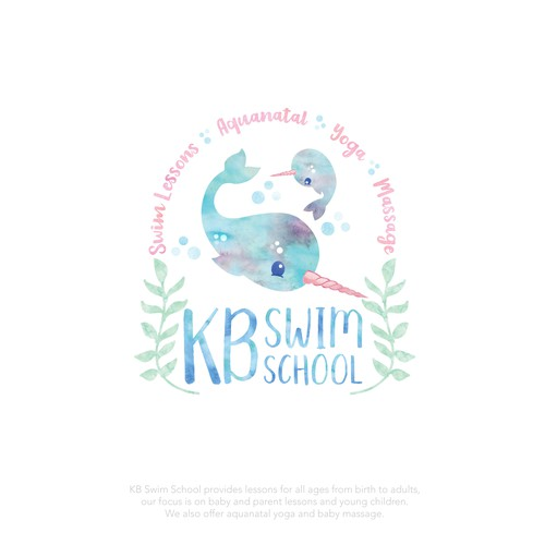 An updated adorable logo for KB Swim School