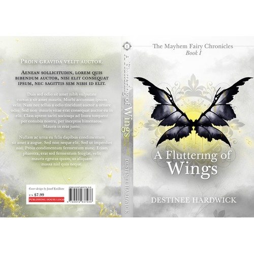 Book cover, A Fluttering of Wings