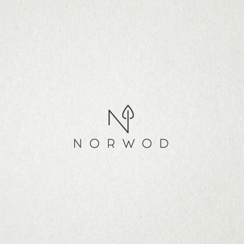Simple modern logo for NORWOD