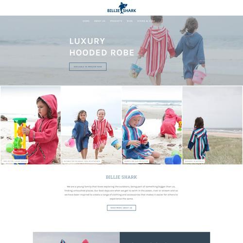Billie Shark website design