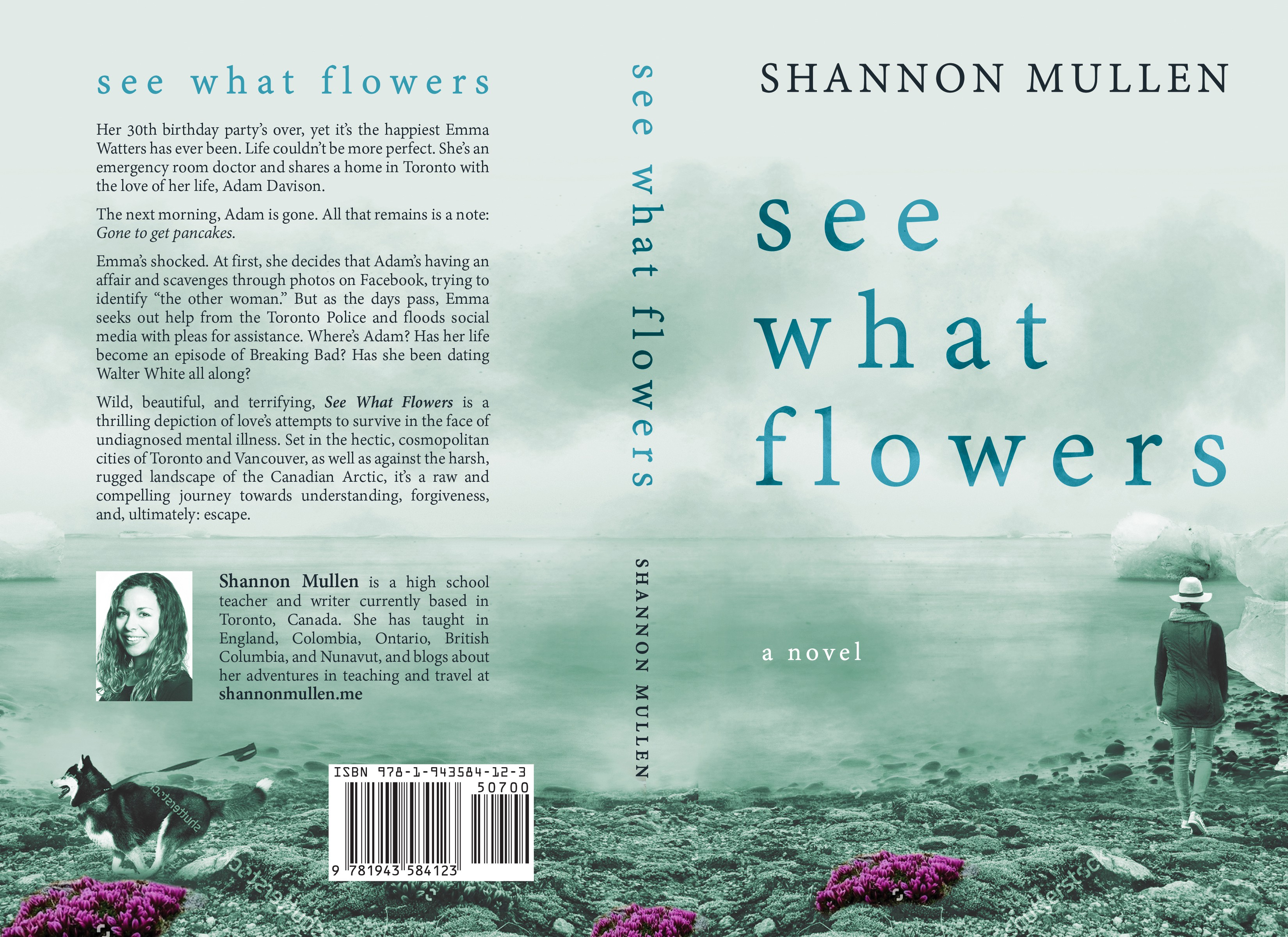 Design the book cover for See What Flowers, a novel about love & mental illness