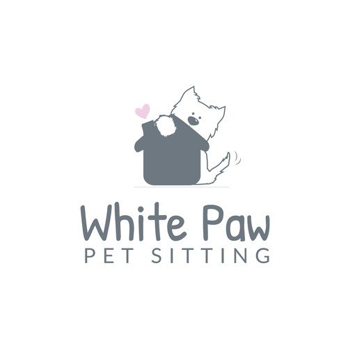 Dog sitting Logo