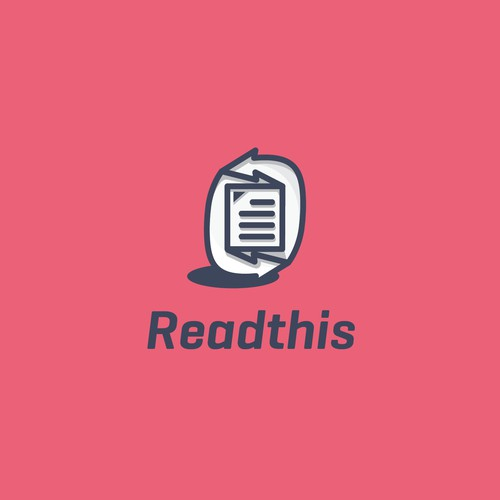 Simple and modern logo for Readthis