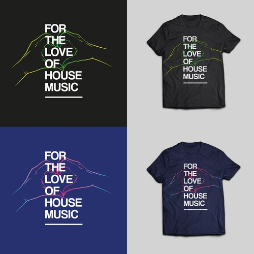 HOUSE MUSIC tee shirt design
