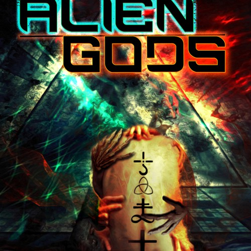 Create the next design for Stephen L. Antczak - ALIEN GODS sci-fi anthology book