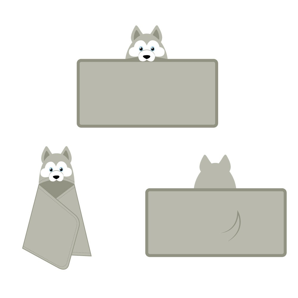 Illustrate playful hooded animal towels for kids - inspiration included!