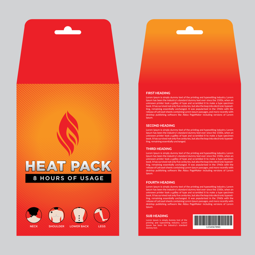 Envelope for HEAT PACK