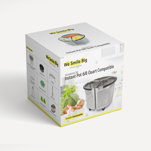 Packaging for kitchen accessories