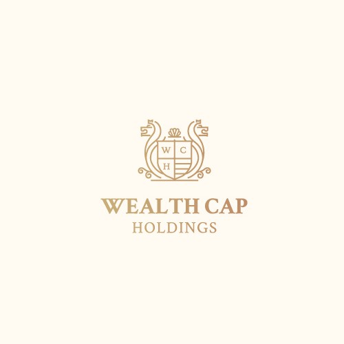 Minimalist lineal classic logo for Wealth Cap Holdings