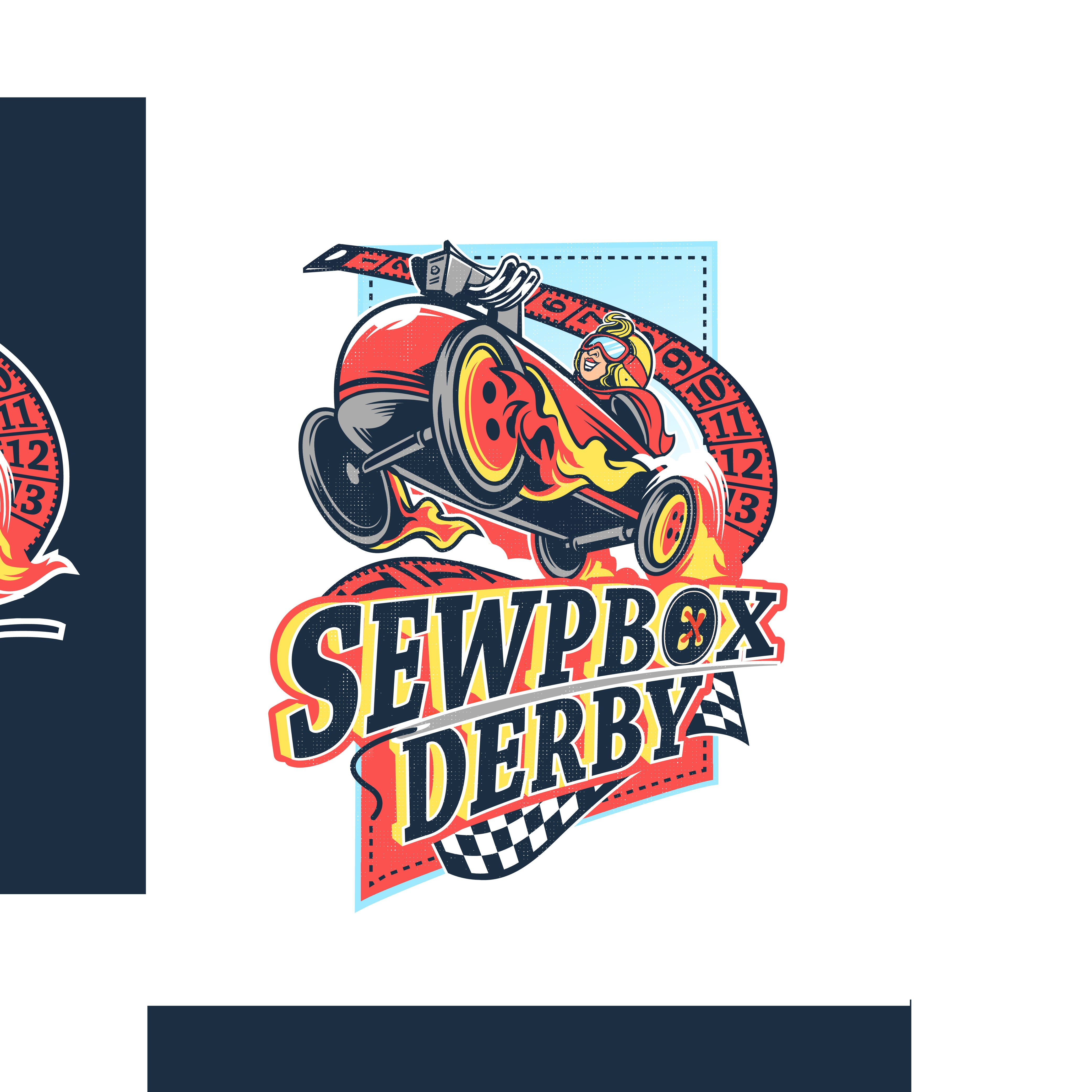 """Help us launch our new """"SewpBox Derby"""" event with a great logo!"""