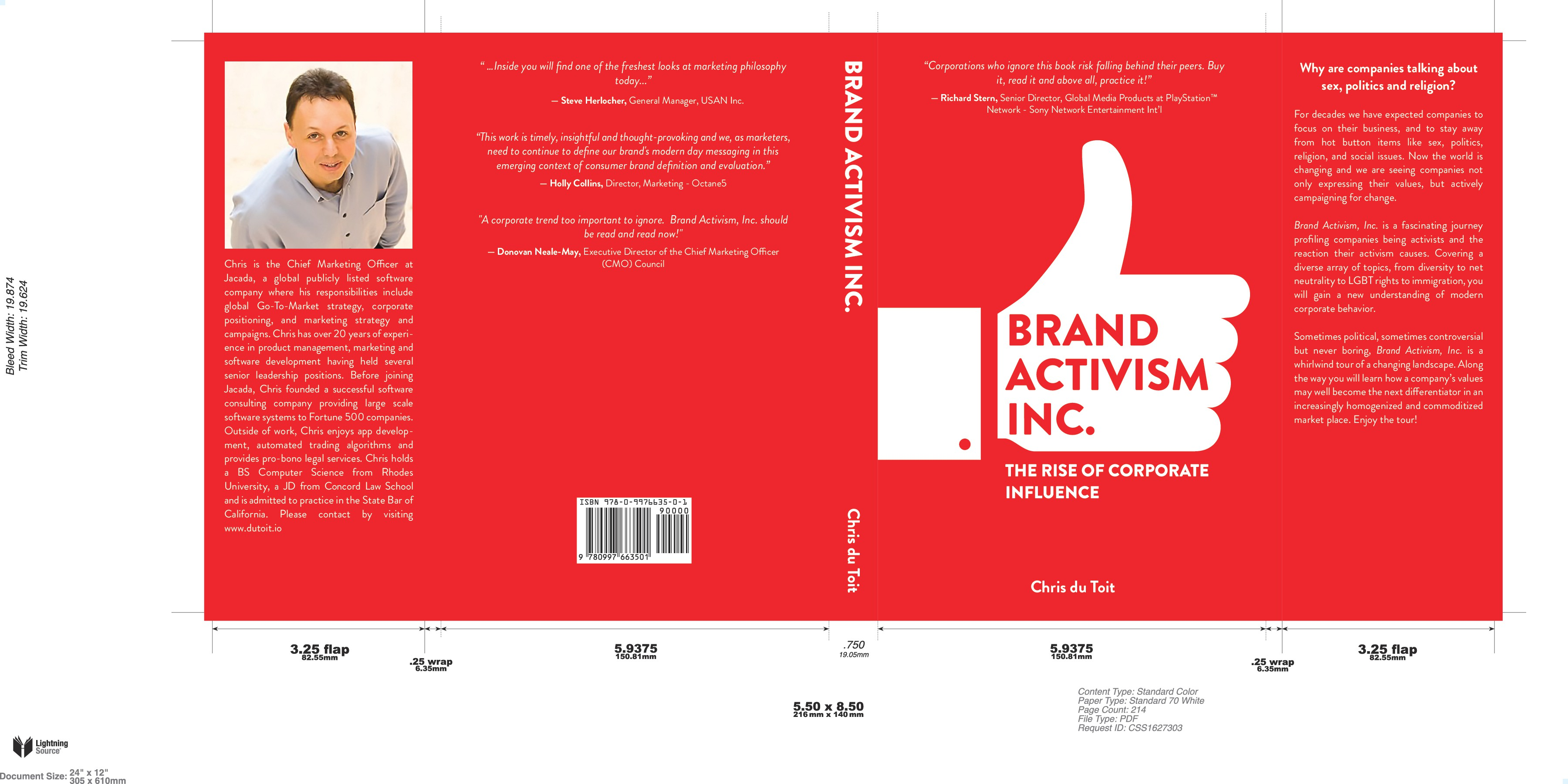 Hardcover (Dust jacket) design for a book covering a new corporate phenomena