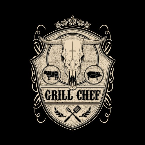 grill chef design tshirt