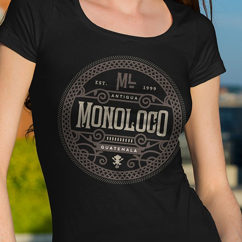 T-Shirt design for Monoloco, Guatemala
