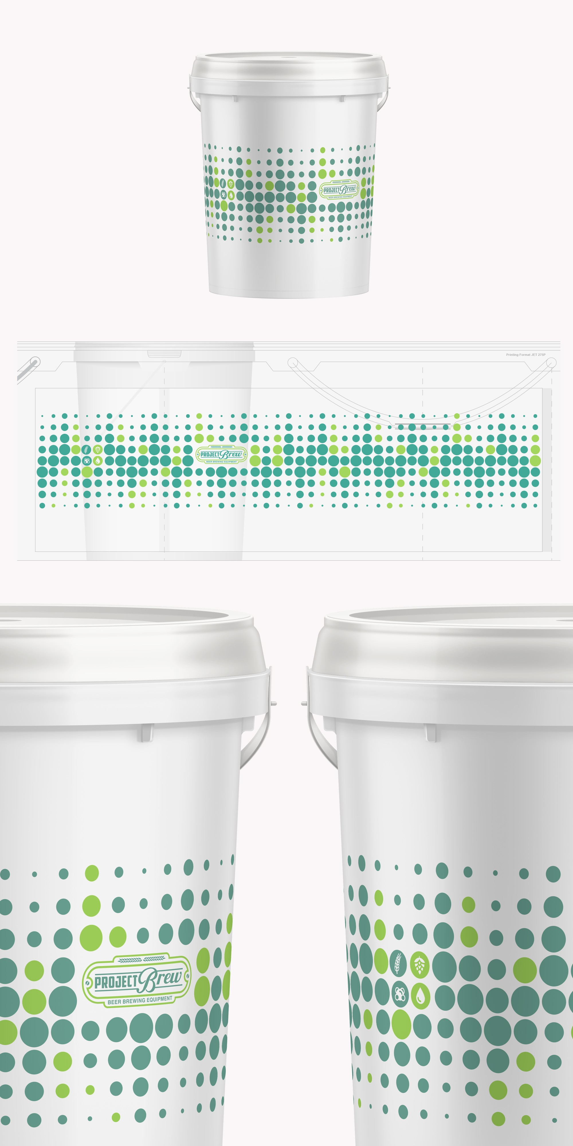 Create a awsome design for fermentation bucket