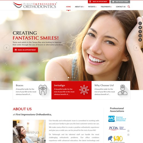 Homepage Redesign for Orthodontics Website