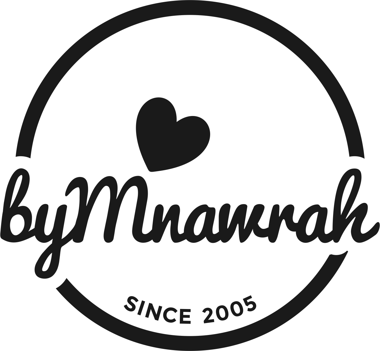 Update existing logo - step up a personal brand [Mnawrah] of an artist into a business [ByMnawrah]