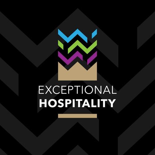 Logo for a hospitality management