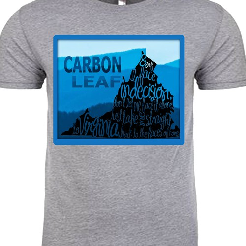 "Design a ""Virginia"" T-SHIRT GRAPHIC for indie folk/rock band Carbon Leaf"