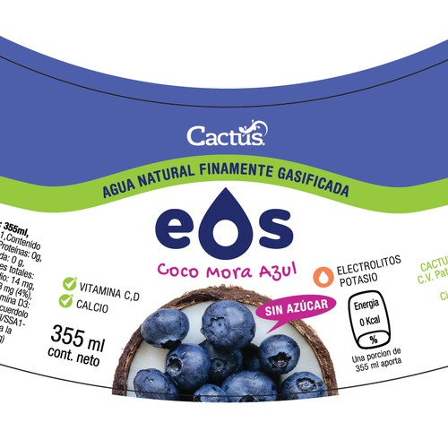 Label design for EOS Brand