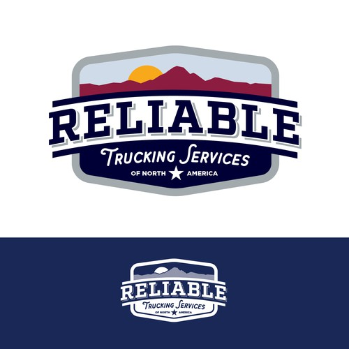Classic logo for trucking company.
