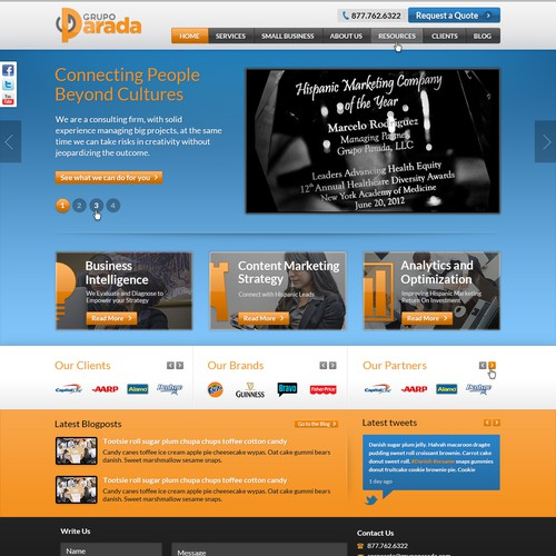 website design for GrupoParada.com