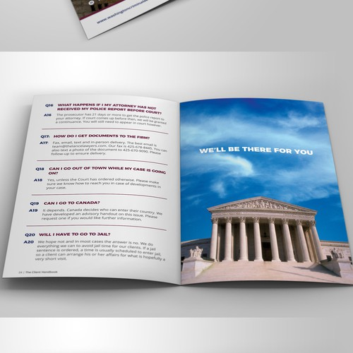 Law Office Booklet Design